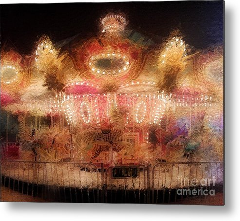 Featured Metal Print featuring the photograph Spinning At The Speed Of Light by Jenny Revitz Soper