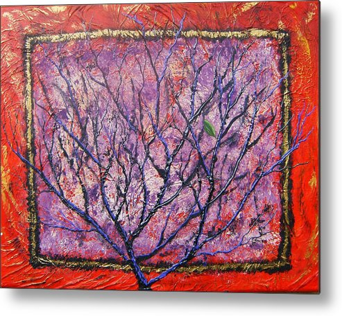 Nature Metal Print featuring the painting Spirit Tree 6 by Tami Booher