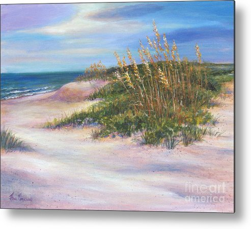 Seascape Metal Print featuring the painting St. Simon's Island by Ann Cockerill