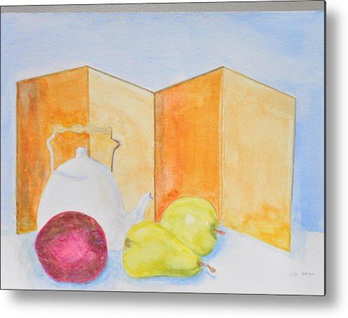 Tea Pot Metal Print featuring the painting Still Life Tea Pot by Jonathan Galente