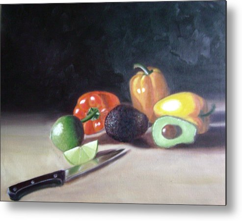 Metal Print featuring the painting Still-life by Toni Berry
