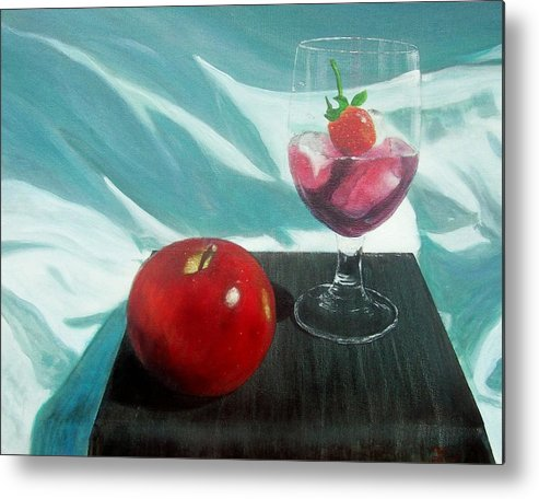 Still Life Metal Print featuring the painting Still Life by Tony Rodriguez