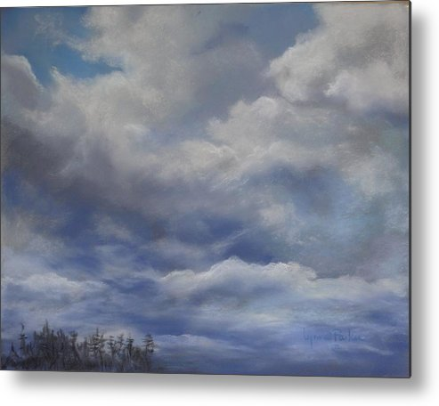Cloud Scape Metal Print featuring the painting Storm A Brewing by Lynne Parker