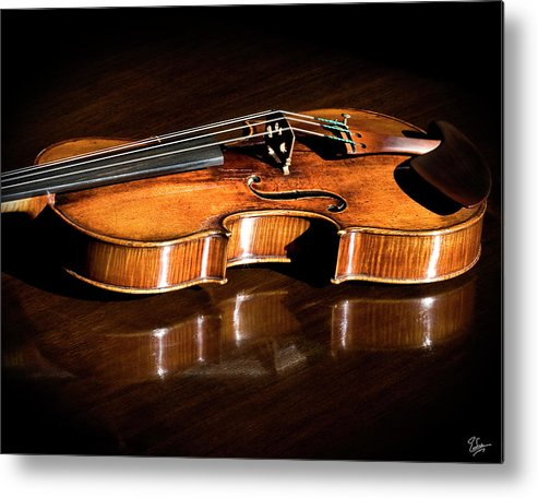 Strad Metal Print featuring the photograph Stradivarius In Sunlight by Endre Balogh