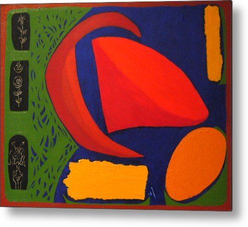 Irregular Forms; Abstract Metal Print featuring the painting Studio Number 326 by Vijayan Kannampilly
