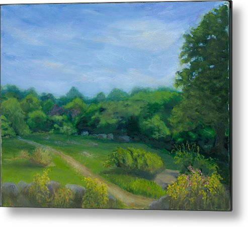 Landscape Metal Print featuring the painting Summer Afternoon At Ashlawn Farm by Paula Emery