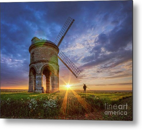 Windmill Metal Print featuring the photograph Sunset At The Windmill by Fiona Smith