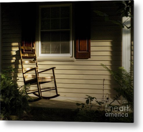 Rocking Chair Metal Print featuring the photograph Sunset Rocker by Chris Fleming