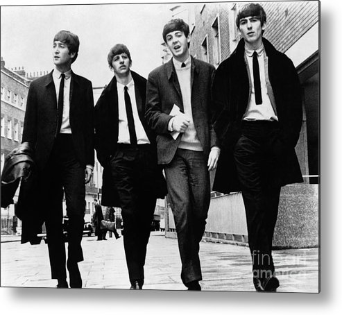 1963 Metal Print featuring the photograph The Beatles by Granger