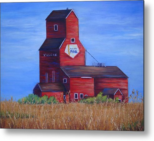 Landscape - Historical Metal Print featuring the painting The Elevator by Maxine Ouellet