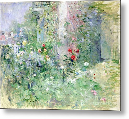 The Metal Print featuring the painting The Garden At Bougival by Berthe Morisot