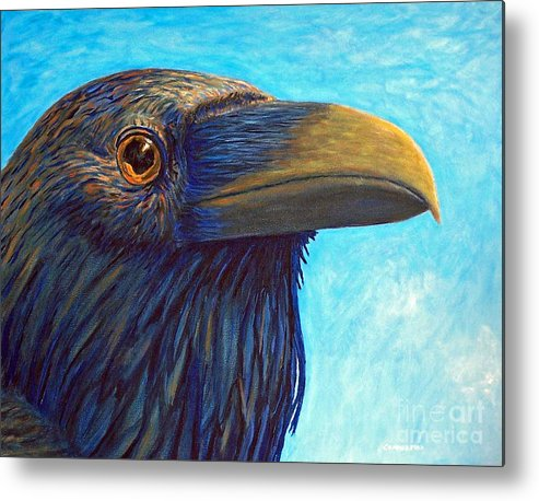 Raven Metal Print featuring the painting The Prophet by Brian Commerford