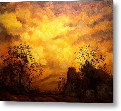 Connie Tom Metal Print featuring the painting The Secret Place Of The Most High by Connie Tom