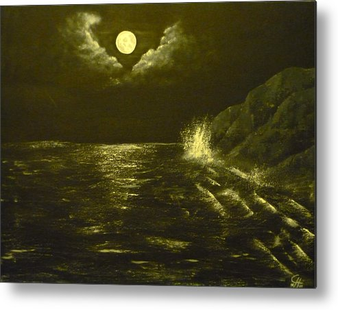 Seascape Metal Print featuring the painting Time To Relax by Christian Hidalgo