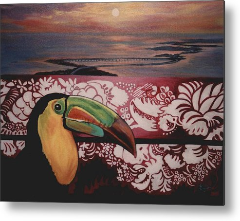 Bird Metal Print featuring the painting Toucan by Diann Baggett