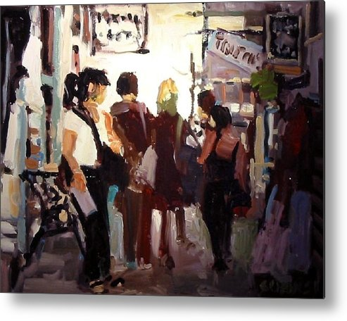 Landscape Paintings Metal Print featuring the painting Tourists by Brian Simons