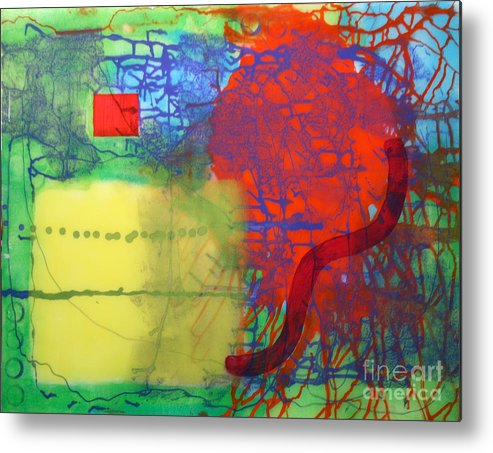 Abstract Metal Print featuring the painting Transit by Mordecai Colodner