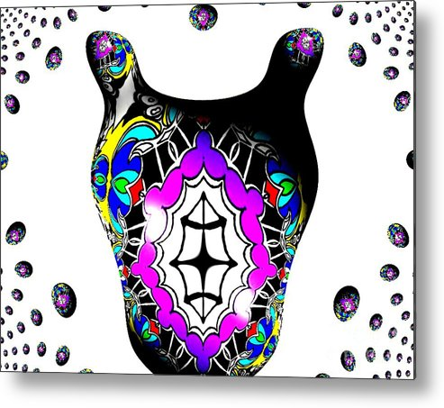 Tribal Horse Metal Print featuring the digital art Tribal Horse 2 by Graham Roberts