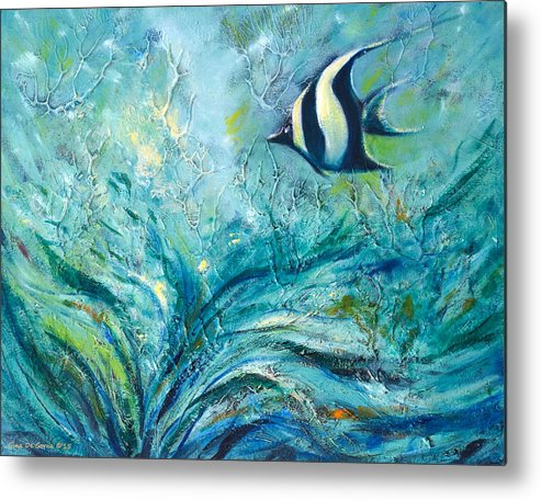 Art Metal Print featuring the painting Under The Sea 9 by Gina De Gorna
