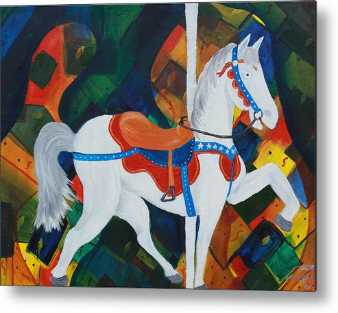 Horse Metal Print featuring the painting Unforgettable Magic by Tammy Dunn
