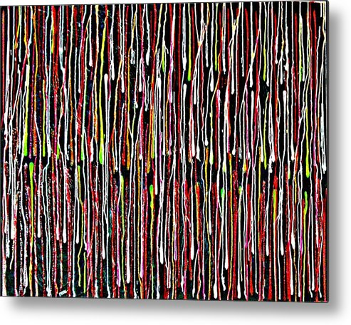 Abstract Metal Print featuring the painting Untitled 1 by Paul Freidin