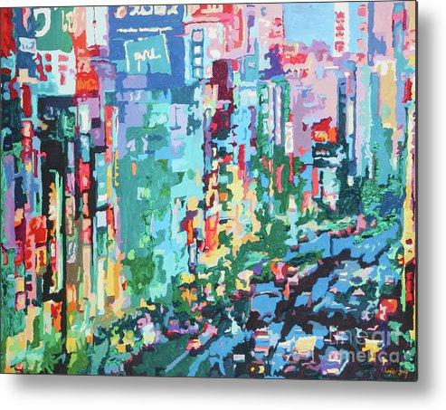 Bobby Logic Metal Print featuring the painting Upward Sprawl by Bobby Logic