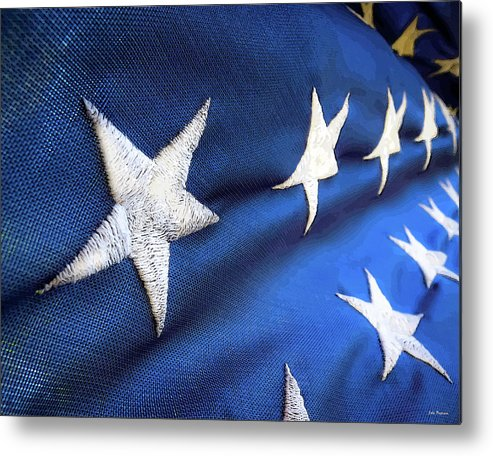 Abstract Metal Print featuring the photograph Variations On Old Glory No.5 by John Pagliuca