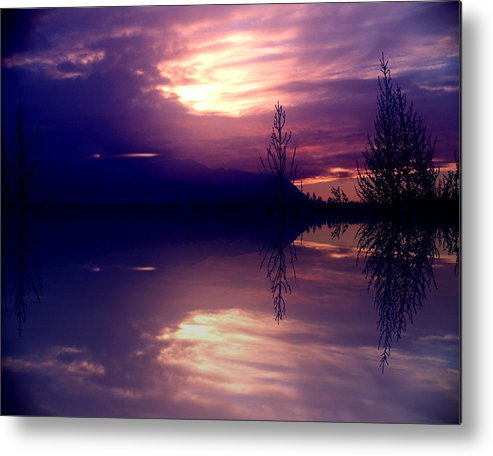 Alaska Metal Print featuring the photograph Velvet Mirror by Dianne Roberson