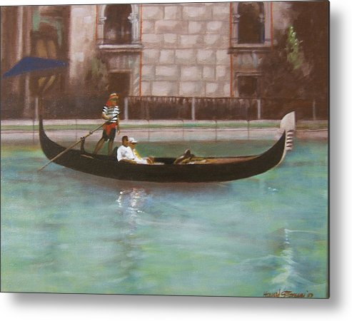 Smooth Sailing Metal Print featuring the painting Venetian by Howard Stroman