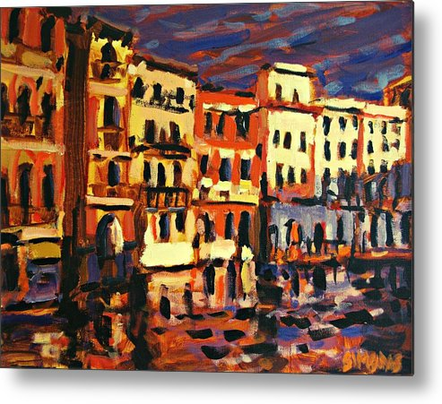 Paintings Metal Print featuring the painting Venice Evening by Brian Simons