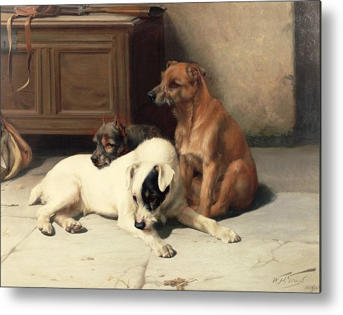 Waiting For Master Metal Print featuring the painting Waiting For Master by William Henry Hamilton Trood