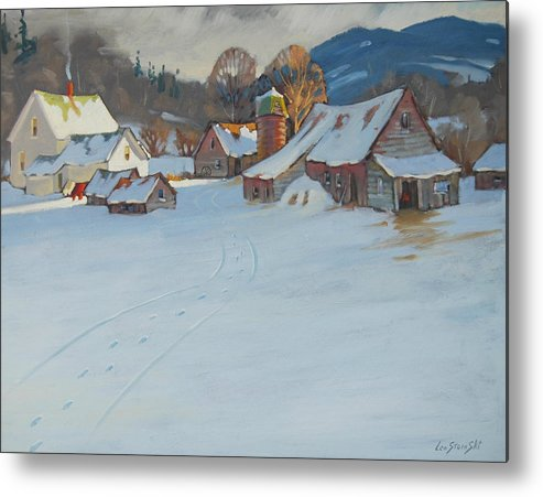 Berkshire Hills Paintings Metal Print featuring the painting Wash Day by Len Stomski