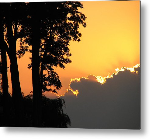 Landscape Metal Print featuring the photograph Webster Ny Sunset by Helaine Cummins