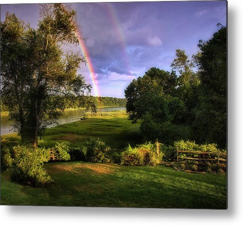 Rainbow Metal Print featuring the photograph Westport Rainbow by Mary Dineen