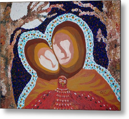 Souls Metal Print featuring the painting When Souls Unite by Carolyn Cable