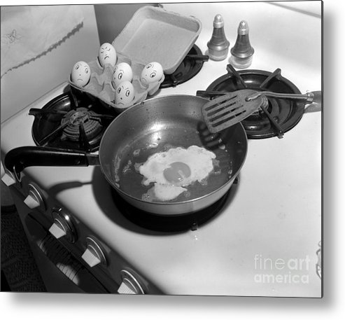 Kitchen Metal Print featuring the photograph Who Is Next by Larry Keahey