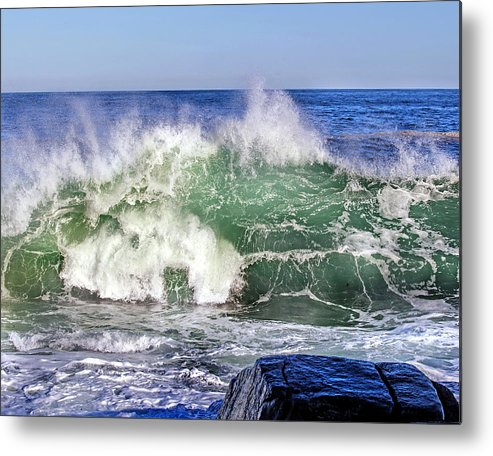 Wave Metal Print featuring the photograph Wild Waves by Elaine Somers