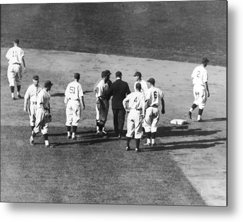 People Metal Print featuring the photograph Controversial Call In The 1935 World by Fpg
