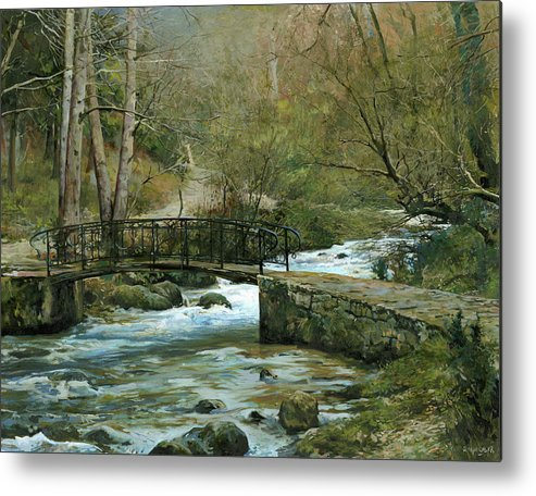 River Metal Print featuring the painting The River Psirzha by Denis Chernov