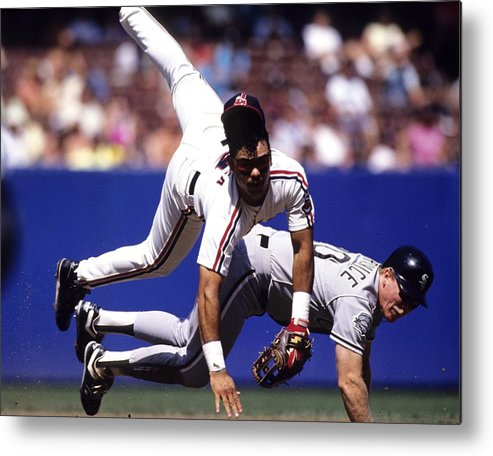 Cleveland Indians Metal Print featuring the photograph Carlos Baerga by Ronald C. Modra/sports Imagery