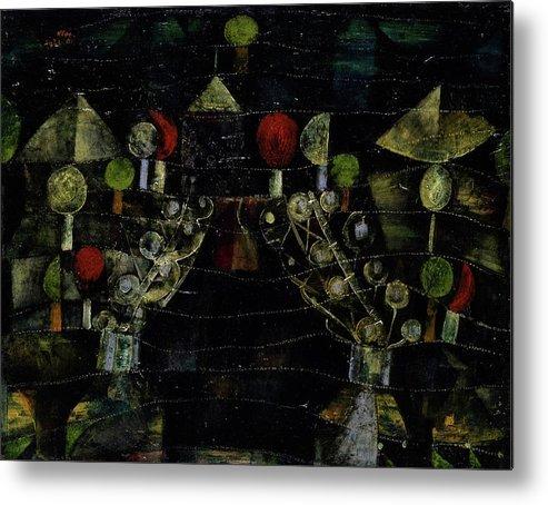Paul Klee Metal Print featuring the painting Women's Pavilion by Paul Klee