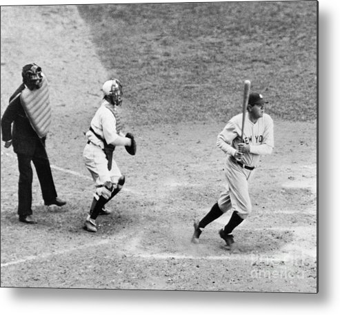 Following Metal Print featuring the photograph Babe Ruth by National Baseball Hall Of Fame Library
