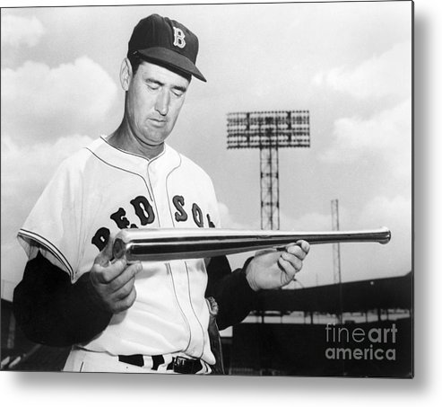 People Metal Print featuring the photograph Ted Williams by National Baseball Hall Of Fame Library
