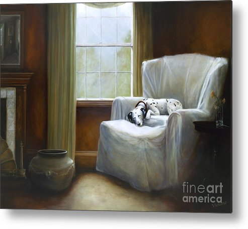 Violano Metal Print featuring the painting Afternoon Nap by Stella Violano