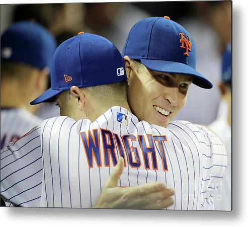 Jacob Degrom Metal Print featuring the photograph Jacob Degrom And David Wright by Elsa