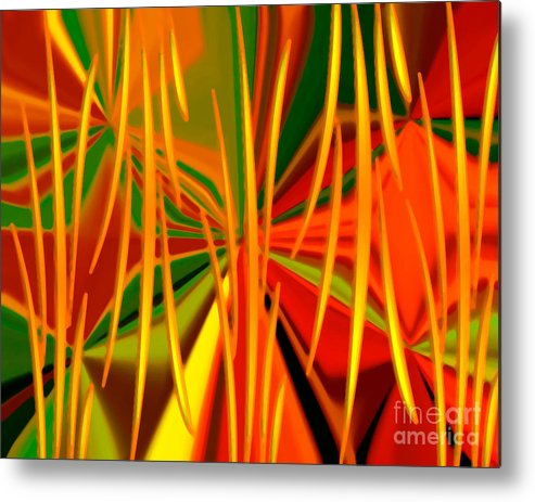 Digital Art Abstract Prints Metal Print featuring the digital art Absolutely Abstract by Gayle Price Thomas