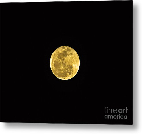 Moon Metal Print featuring the photograph Passover Full Moon by Al Powell Photography USA