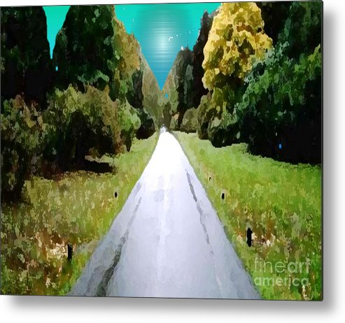 Landscape Metal Print featuring the painting Road To Nowhere by Belinda Threeths