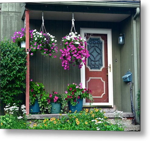 Home Metal Print featuring the photograph Home Sweet Home by Frozen in Time Fine Art Photography