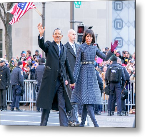 Obama Metal Print featuring the photograph 2013 Inaugural Parade by Ava Reaves